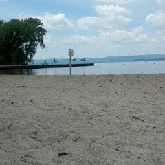 Photo taken at Croton Point Beach by Iris C. on 7/3/2012