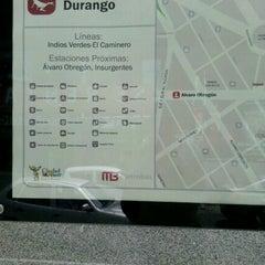 Photo taken at Metrobús Durango L1 by Nancy Cristina R. on 6/28/2012