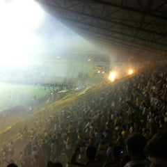 Photo taken at Estádio Heriberto Hülse by Cristiano T. on 4/5/2012