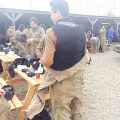Photo taken at Delta Force Paintball - Upminster by Oumayma T. on 4/19/2015
