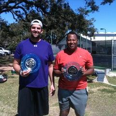 Photo taken at Courtyard Tennis Center by Leon K. on 3/3/2013