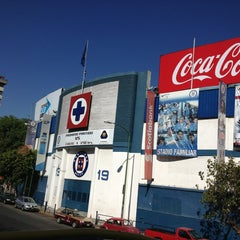 Photo taken at Estadio Azul by Roberto N. on 2/4/2013