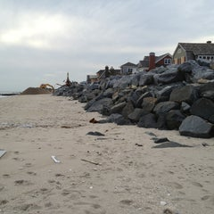 Photo taken at Karge Street Beach by Alex B. on 1/17/2013