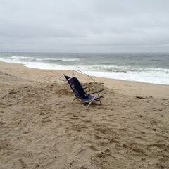 Photo taken at Karge Street Beach by Alex B. on 1/16/2013