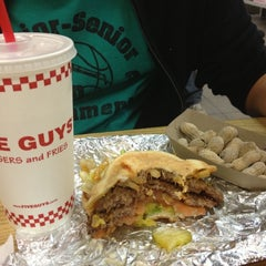Photo taken at Five Guys by Kristine on 10/16/2012