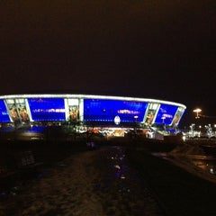 Photo taken at Donbass Arena / Донбасс Арена by Andrey P. on 1/3/2013