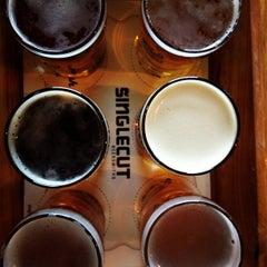 Photo taken at SingleCut Beersmiths by Jon M. on 4/14/2013