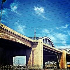 Photo taken at Sixth Street Bridge by Backstage Gabe ♚. on 8/3/2013