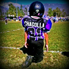 Photo taken at Rancho Cucamonga Pop Warner Field by Backstage Gabe ♚. on 10/14/2012