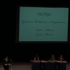 Photo taken at Teatro Cuyás by Gloria M. on 7/24/2014