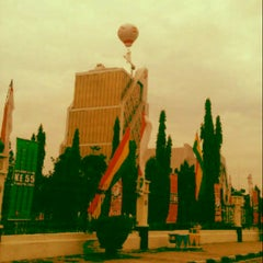 Photo taken at Jalan Jenderal Sudirman by Robby A. on 8/21/2012