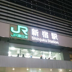 Photo taken at 新宿駅 (Shinjuku Sta.) by jujurin 0. on 9/30/2013