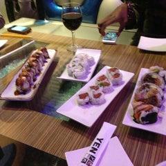 Photo taken at Yen Sushi Karaoke & Lounge by Aida C. on 4/10/2013