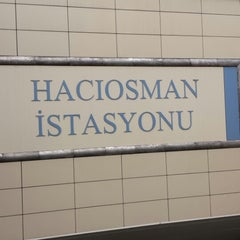 Photo taken at Hacıosman Metro İstasyonu by Omar A. on 11/20/2013