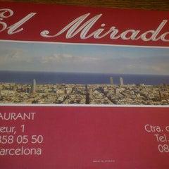 Photo taken at El Mirador by Enric M. on 5/24/2013