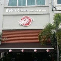 Photo taken at Bukit Cina Soya Bean by Darren T. on 10/5/2014