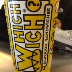 Photo taken at Which Wich? Superior Sandwiches by Ivy R. on 10/12/2012