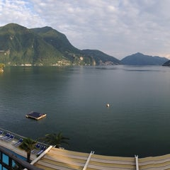 Photo taken at Hotel Lido Seegarten Lugano by Yvinschka on 6/17/2014