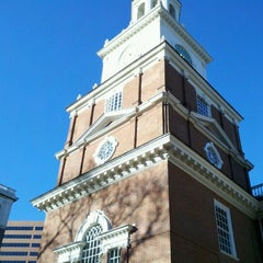 Photo taken at Independence Hall by Jen G. on 1/18/2013