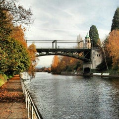 Photo taken at Montlake Bridge by Jon S. on 11/27/2012