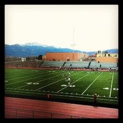 Photo taken at Garry Berry Stadium by Naomi T. on 3/11/2014