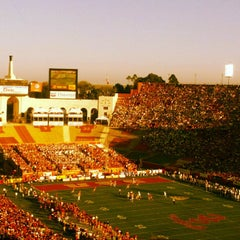 Photo taken at Los Angeles Memorial Coliseum by Andy S. on 11/3/2012