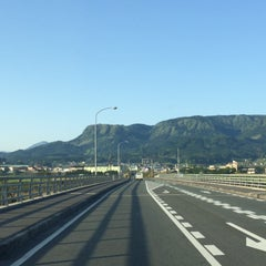 Photo taken at メルヘン大橋 by 54 on 5/1/2015
