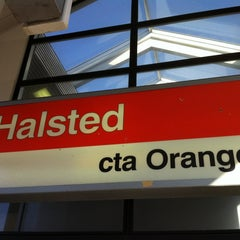 Photo taken at CTA - Halsted by Robbi H. on 3/17/2012