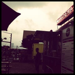 Photo taken at Wurst Tex by Wen V. on 5/24/2013