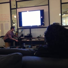 Photo taken at WeWork Labs NY by kiran l. on 4/22/2013