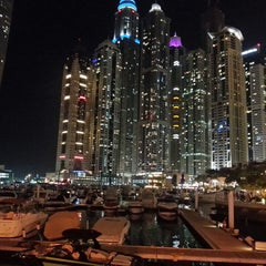 Photo taken at Dubai Marina Walk ممشى مرسى دبي by Dona C. on 4/9/2013