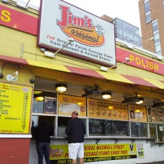 Photo taken at Jim's Original Hot Dog by Amanda D. on 11/10/2012