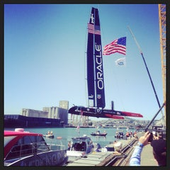 Photo taken at Oracle Team USA -Pier 80 by Joshua S. on 4/23/2013