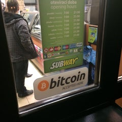Photo taken at Subway by Michal H. on 1/17/2014