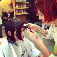 Photo taken at Christina Sanchez Hair Design @ gods&heros salon by Christina on 11/21/2012