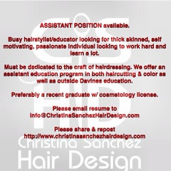 Photo taken at Christina Sanchez Hair Design @ gods&heros salon by Christina on 4/9/2014