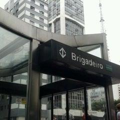Photo taken at Estação Brigadeiro (Metrô) by Nelson Takashi Y. on 3/18/2012