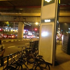 Photo taken at Yishun MRT Station (NS13) by Serene H. on 8/18/2012