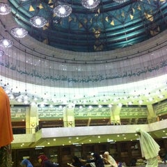 Photo taken at Masjid Agung At-Tin by Hasna F. on 8/14/2012
