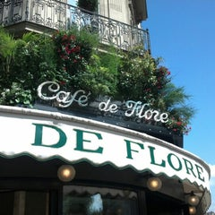 Photo taken at Café de Flore by Paul H. on 7/17/2012