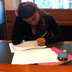 Photo taken at Biblioteca by Arlette A. on 4/9/2012