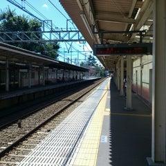 Photo taken at 柴崎駅 (Shibasaki Sta.) (KO15) by Kazunobu on 8/19/2012