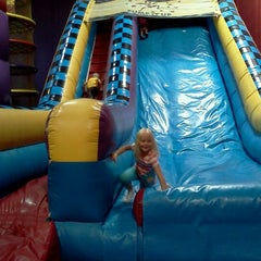 Photo taken at Pump It Up by Heather J. on 5/5/2012
