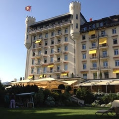 Photo taken at Gstaad Palace Hotel by John Z. on 8/19/2012