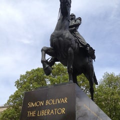Photo taken at Simon Bolivar, the Liberator Statue by Scot G. on 4/5/2012