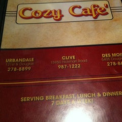 Photo taken at Cozy Cafe by Marc G. on 12/22/2011