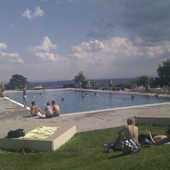Photo taken at Krapfenwaldbad by A. S. on 5/21/2011