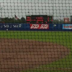 Photo taken at Pim Mulier Baseball Stadium by Daan V. on 7/18/2012