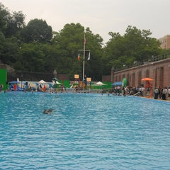 Photo taken at Jackie Robinson Pool by NYC Parks on 7/6/2012