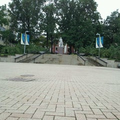 Photo taken at The University of Akron by Laura B. on 9/8/2011